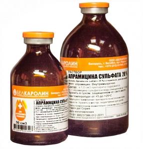 Апрамицина сульфата 20%